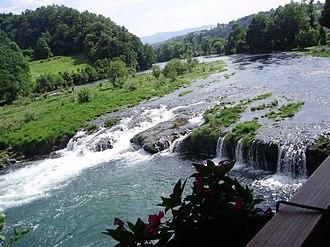 Una (Sava) - Image: River Una in Bosanska Krupa