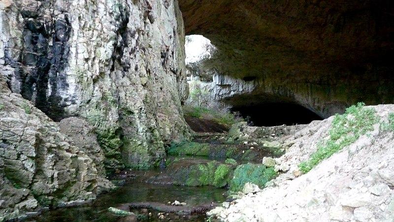 File:River in Devetashka cave - panoramio (1).jpg