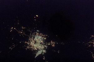 English: Astronaut Photo of Riyadh, Saudi Arab...