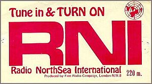 Radio North Sea International - Campaign sticker