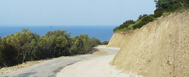 File:Road construction at Albanian Riviera.jpg