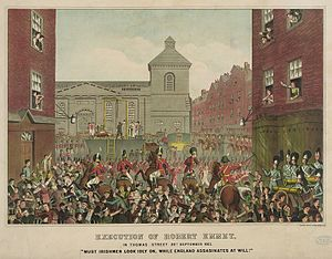 1803 in Ireland - Execution of Robert Emmet