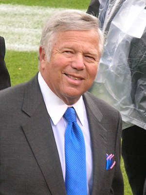 New England Patriots owner Robert Kraft on the...