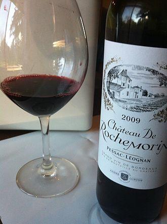 Pessac-Léognan - A red wine from the Pessac-Léognan  region.