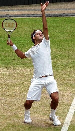 Roger Federer - Image: Roger Federer (26 June 2009, Wimbledon) 3 cropped