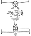 Rohr M.O.1 3-view Les Ailes February 22, 1947.png