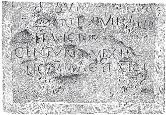 Battir - Roman Inscription found near Battir mentioning the 5th and 11th Roman Legions