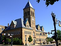 Romanesque Building in Lancaster, Ohio.JPG