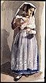 Rome 1843. Kvinna i folklig dräkt. Akvarell av Fritz von Dardel, 1843 - Nordiska Museet - NMA.0037585.jpg