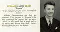 Ronald Read philanthropist 1940 Brattleboro High School yearbook.png