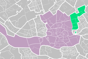 Prins Alexander - Prins Alexander (light green) within Rotterdam (purple).