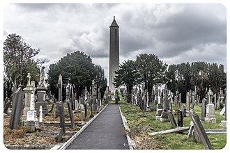 Irish round tower - Daniel O'Connell's tomb at Glasnevin Cemetery