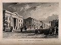 Royal Union Bath, Plymouth; part of the main street. Etching Wellcome V0014379.jpg