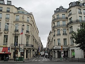 Rue de Caumartin - With mansion Marin-Delahaye on the left and mansion d'Aumont on the right.