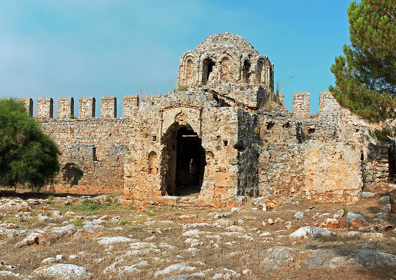 File:Ruins of Byzantine Church of Saint George in Alanya Castle.jpg