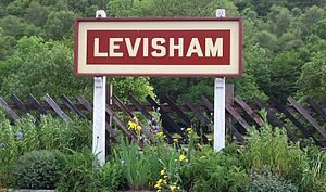 Levisham railway station - Image: Running In board Levisham