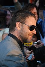 Photo o Crowe at the Lunnon film premiere for State of Play, 21 Aprile 2009.