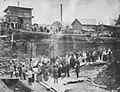 Russischer Photograph um 1898 - Religiöse Feierlichkeit bei der Grundsteinlegung für das Stangenwalzwerk in Lyswa (Zeno Fotografie).jpg