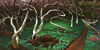 Old apple trees.