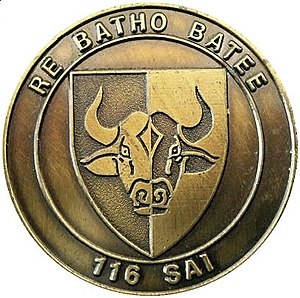 116 Battalion - SADF 116 SAI Commemorative medallion