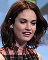 SDCC 2015 - Sam Riley & Lily James (19536831480) (cropped).jpg