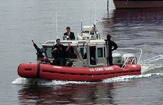 2004 Democratic National Convention - U.S. Coast Guard providing security during the convention