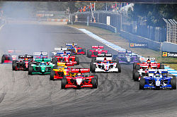 Start i Superleague Formula på Autodromo do Estoril 2009.