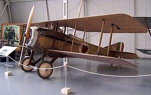 Ernesto Cabruna - Restoration of the Spad VII that Ernesto Cabruna flew. It bears 77a Squadriglia insignia, as well as Cabruna's personal markings.