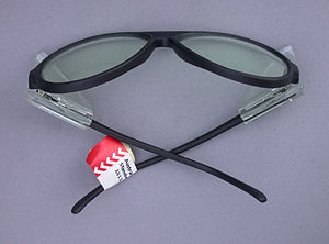 Safety glasses with side shields.