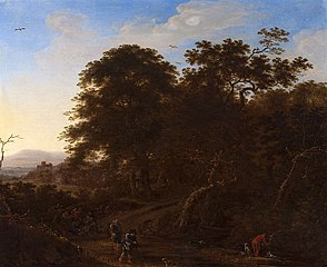 Landscape with travelers.