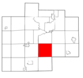 Saginaw County Michigan townships Albee highlighted.png