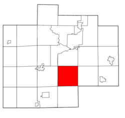 Location within Saginaw County, Michigan