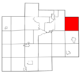 Saginaw County Michigan townships Blumfield highlighted.png