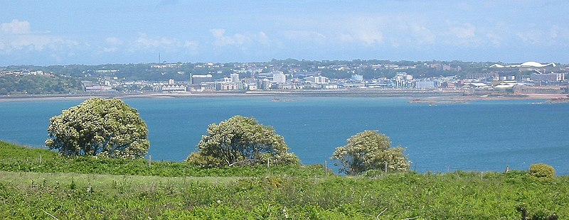 File:Saint Helier from Noirmont Jersey.jpg