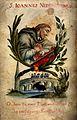 Saint John Nepomucen and his martyrdom. Watercolour on vellu Wellcome V0033314.jpg