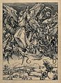 Saint Michael the Archangel. Woodcut by W. Ottley (?) after Wellcome V0032679.jpg