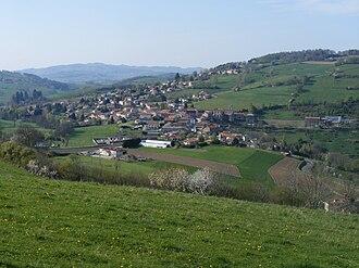 Sainte-Catherine, Rhône - A general view from the summit of Châtelard