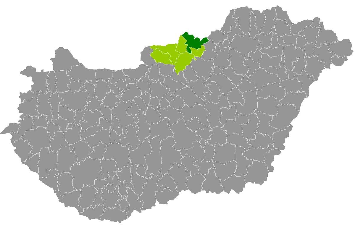 salgótarján térkép Distrito de Salgótarján   Wikipedia, la enciclopedia libre salgótarján térkép