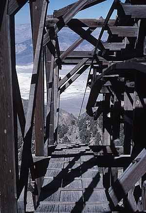 Saline Valley, California - Salt Tram Summit Station in 1989