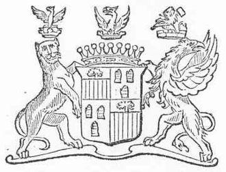 Quartering (heraldry) - Simple quartering, crudely drawn. De Salis quartered with Fane.