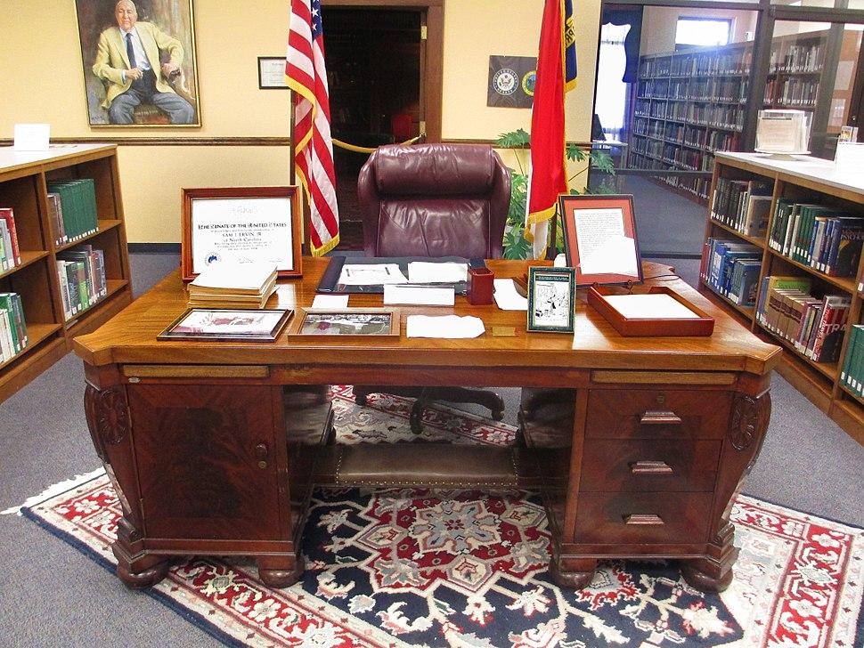 Sam Ervin%27s desk, Morganton, NC IMG 5218