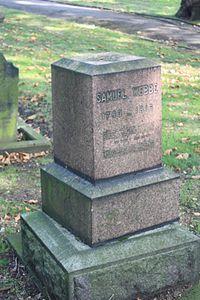 Samuel Webbe's grave, Old St Pancras Churchyard, London.JPG