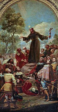 San Bernardino de Siena predicando ante el rey Alonso V de Aragón