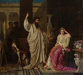 San Pablo sorprendido por Nerón en el momento de convertir a Sabina Popea