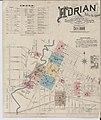 Sanborn Fire Insurance Map from Adrian, Lenawee County, Michigan. LOC sanborn03900 001-1.jpg