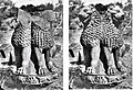 Sanchi capital and simulation of original appearance based on Sarnath capital lion heads.jpg