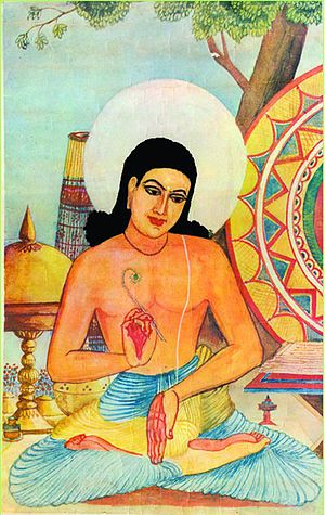 Bishnu Prasad Rabha - Imaginary Portrait of Srimanta Sankaradeva, which was drawn by Bishnu Prasad Rabha