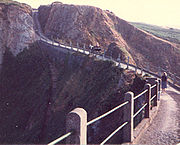 La Coupée is the narrow isthmus which links Greater and Little Sark