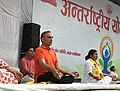 Satya Pal Singh performing Yoga, on the occasion of the 4th International Day of Yoga 2018, in Modinagar, Baghpat (1).JPG