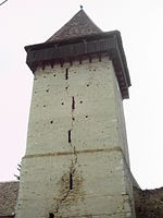 Saxon Fortified Church Valchid Bell Tower.JPG